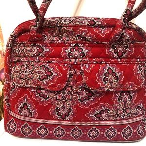 Vera Bradley Bowler Bag Frankly Scarlet